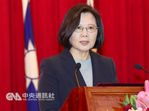 Tsai urges Taiwan political parties to reject 'one country, two systems'
